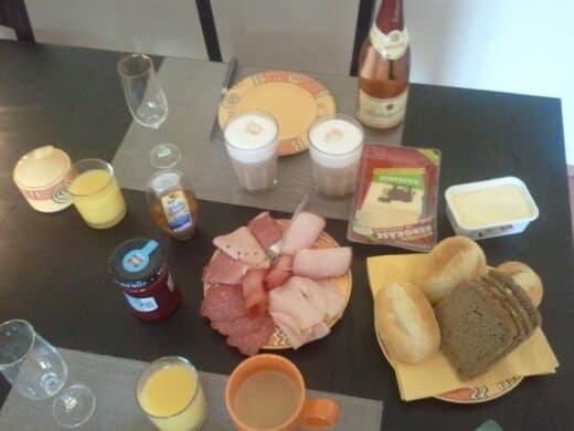 Das gab es dann also zum Frühstück