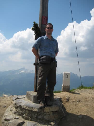 Ich am Gipfelkreuz