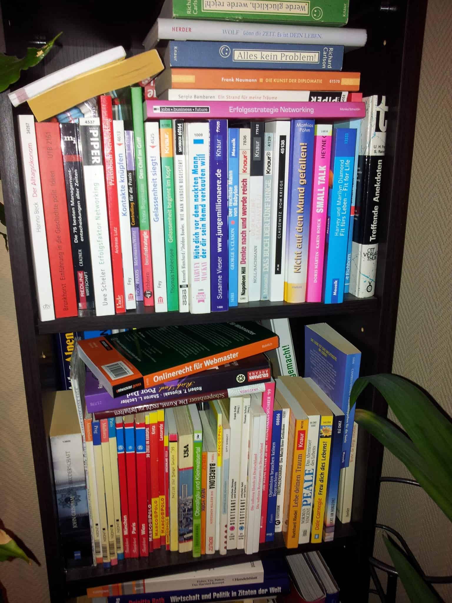 Bild von einem Teil eines meiner Bücherregale