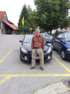 Bild auf dem Parkplatz der Sesselbahn in Buching