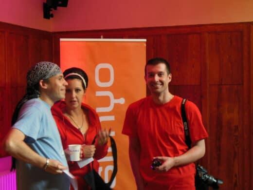 Bild von Steve und Olga vom Orgateam und Torsten