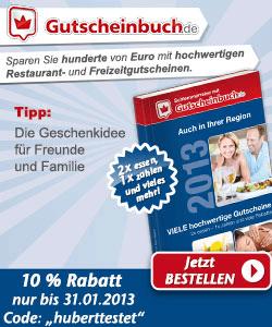 10 % Rabatt auf das Gutscheinbuch - und dafür Provision für mich..