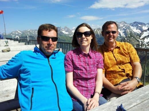 Bild von mir mit Freunden auf dem Fellhorn