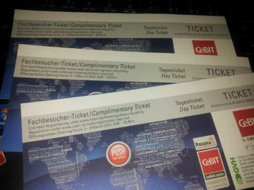 Meine CeBIT Tickets