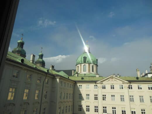 Foto vom Innenhof der Hofburg ins Innsbruck