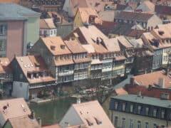 Bamberger Klein Venedig vom Michaelskloster aus fotographiert