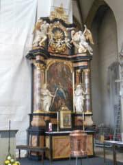 """Altar in der Kirche """"Zu Unserer Lieben Frau"""" in Bamberg"""