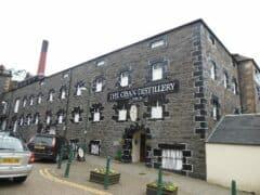 Bild der Oban Distillery von außen