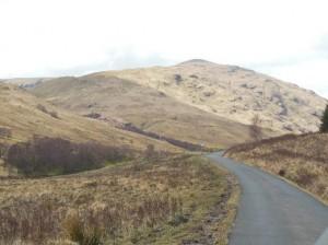 Bild der Strasse durch das Glen Douglas