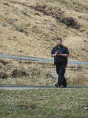 Bild von Stefan mit der Kamera laufend