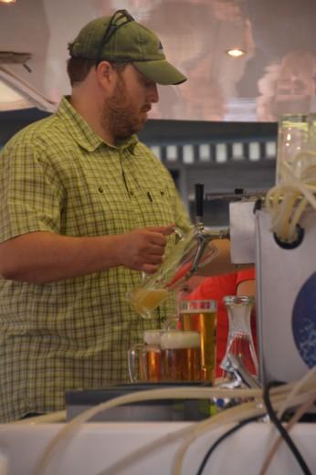 Stefan beim Arbeiten auf dem Sommerfestival der Kulturen 2013