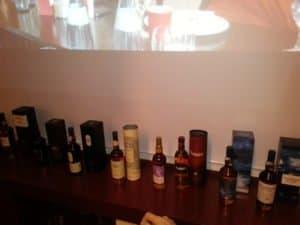 Whisky TasteUp Auswahl beim Barcamp Stuttgart 2013