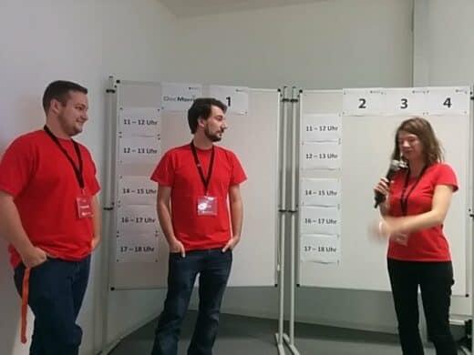 Drei der Organisatoren des Barcamps Regensburg