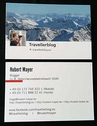 Facebookkarte und Visitenkarte für den Reiseblog (von Moo)