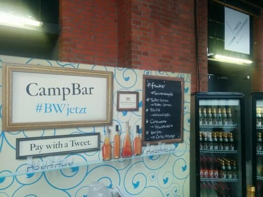 CampBar - pay with a Tweet