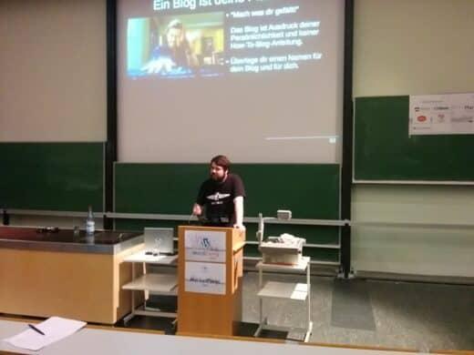 Tobias Schwarz aka der Isarmatrose bei seiner Session auf dem WordCamp