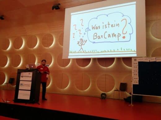 Jan Theofel bei der Eröffnung des Barcamp Stuttgart 2014