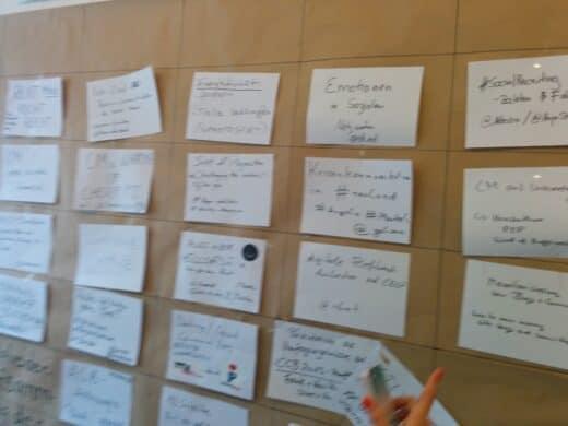Sessionboard von Samstag vom Community Camp 2014
