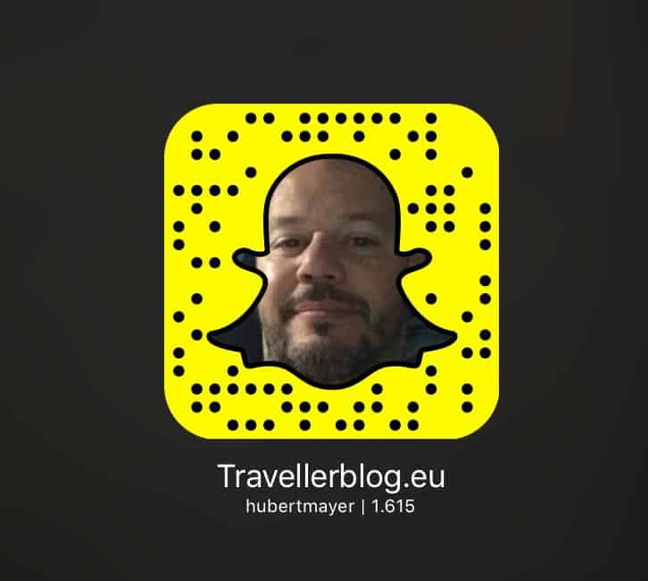 Snapcode Hubert Mayer vom travellerblog.eu