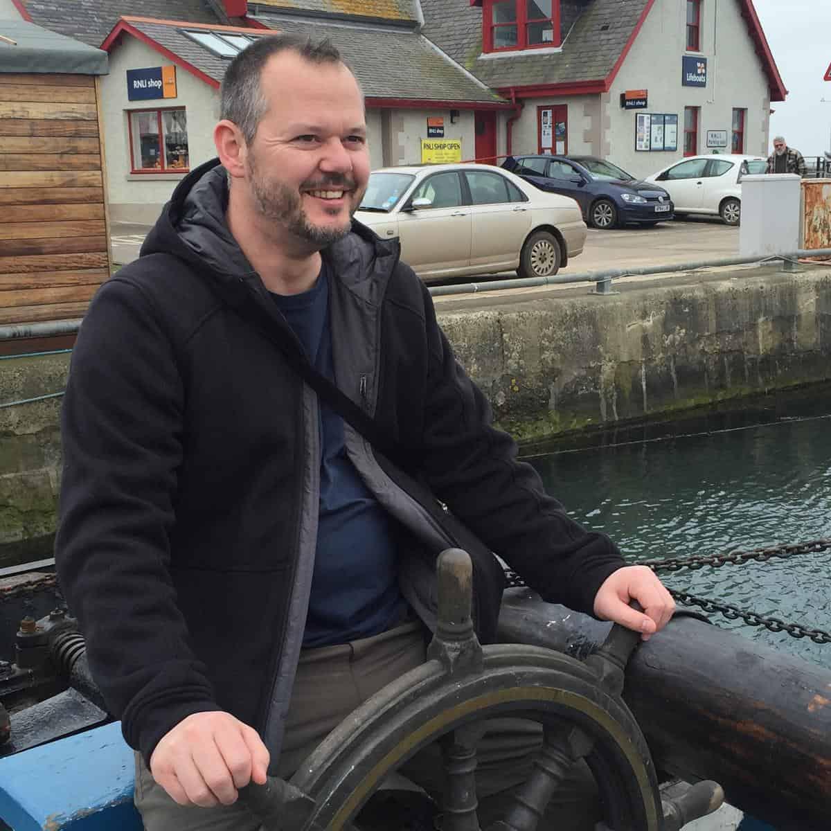 Hubert Mayer vom travellerblog.eu in Schottland