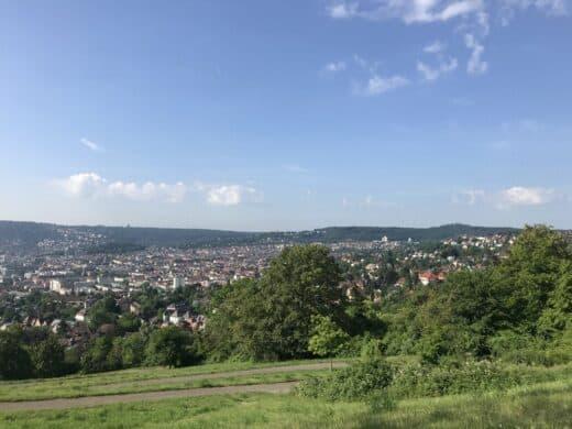 Ausblick auf Stuttgart oben beim Bismarckturm