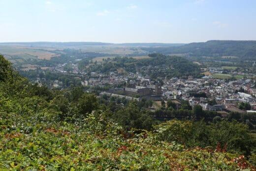 Blick auf die älteste Stadt Luxemburg, Echternach