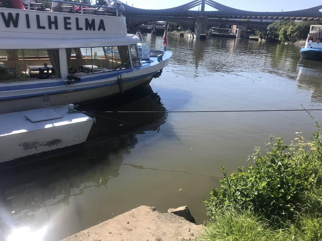 Die MS Wilhelma im Heimathafen Bad Cannstatt