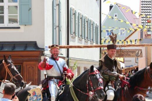 Festzug beim Frundsbergfest 2018 in Mindelheim