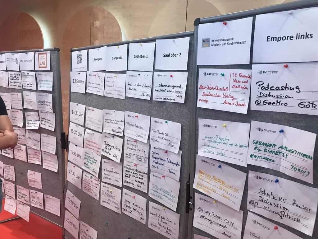 Und BÄM - alle Sessions geplant auf dem Barcamp Stuttgart