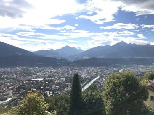 Ausblick auf Innsbruck vom Berg