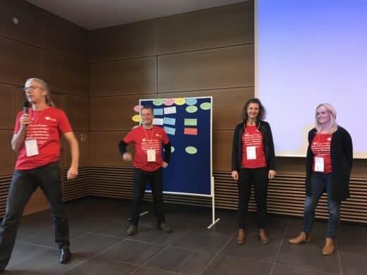 Von links nach rechts: Achim Meurer, Tino Richter, Sara Nestler und Nicole Hesse
