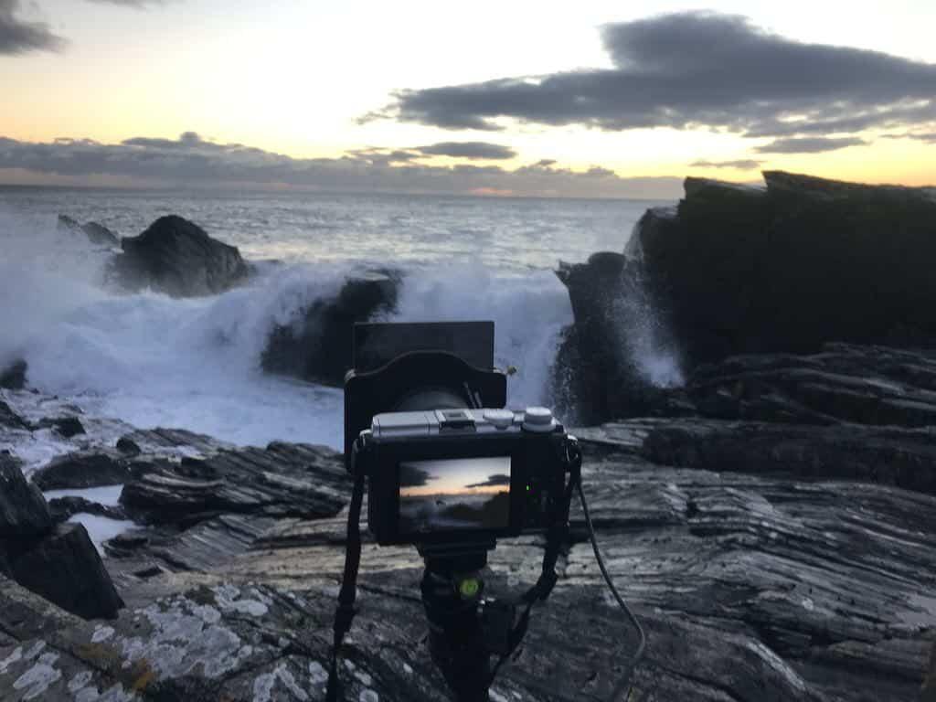 Making of... Meine Canon steht auf dem Felsen und macht eines der Fotos wie zuvor