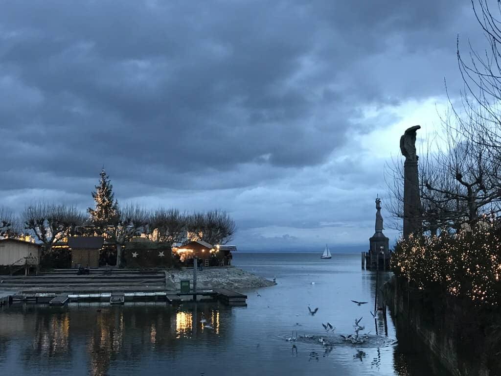 Am Bodensee in Konstanz auf dem Weihnachtsmarkt