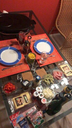 Raclette als Dinner for two für Andre und mich
