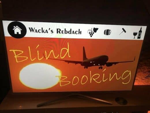 Weinverkostung bei Wacka's Rebdach