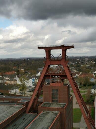 Das Wahrzeichen des Weltkulturerbes Zeche Zollverein: Schachtturm von Schacht 12