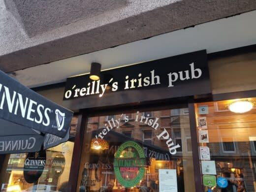 O'Reilly's Irish Pub im Stuttgarter Westen von außen