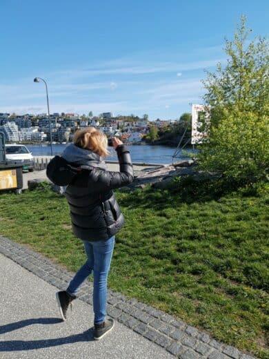 Nic beim Fotografieren in Kristiansand