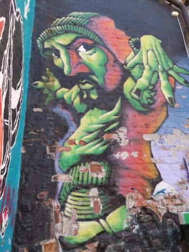 Eins von zahlreichen Graffitis in Oslo