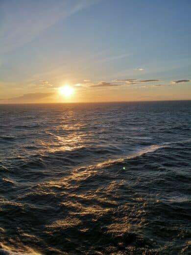 Sonnenuntergang auf der Mein Schiff 1