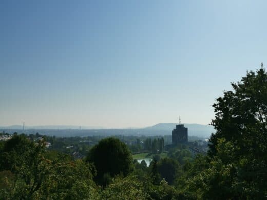 Ausblick vom Wartberg, kurz unterhalb des Perkins Parks
