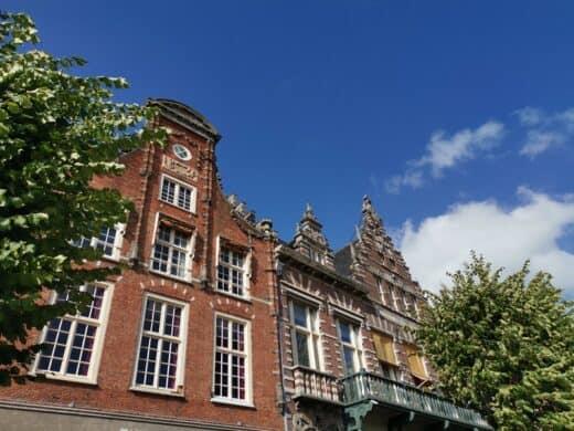 Hausfassaden in Haarlem