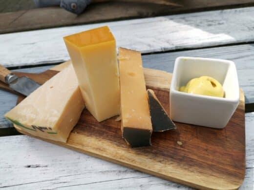 Käseplatte in der Uiltje Brauerei