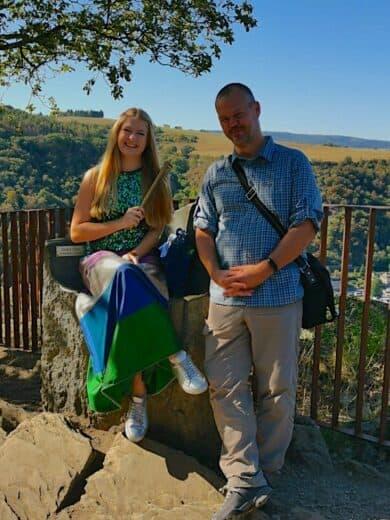 Die Loreley Repräsentantin Tasmin mit ihrem goldenen, 1,5, kg schweren, Kamm und ich ;)