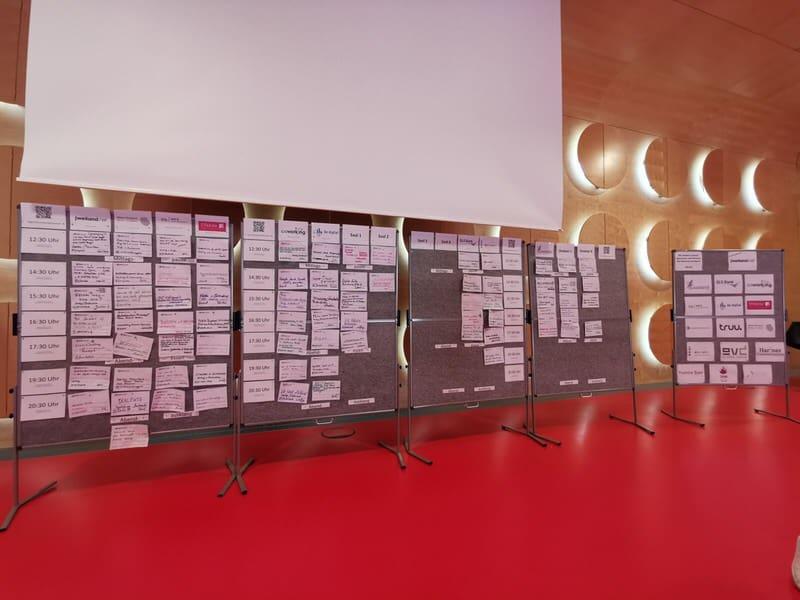 Sessionboard am Samstag beim Barcamp Stuttgart 2019
