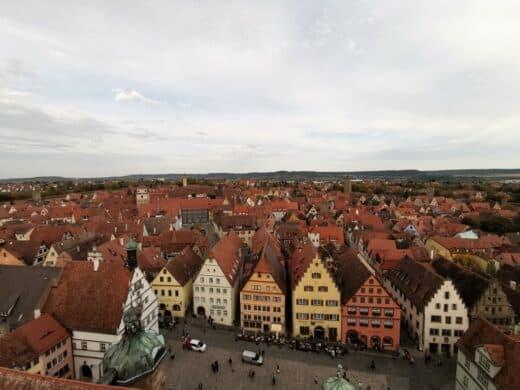 Blick über Rothenburg vom Rathausturm