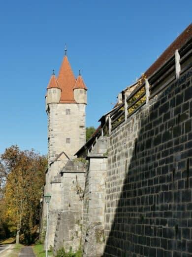 Einer der zahlreichen Türme in Rothenburg