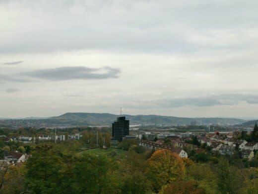 Aussicht vom Wartberg Stuttgart zum Rotenberg
