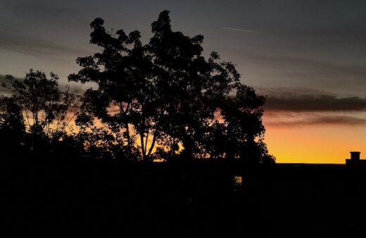 Sonnenaufgang vor meinem Balkon in Stuttgart