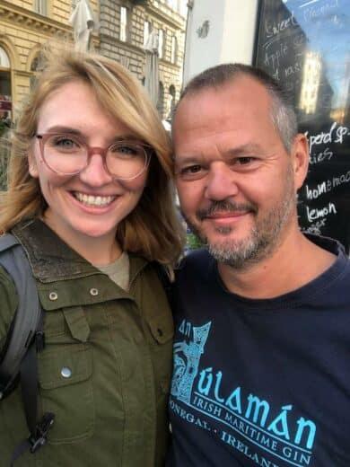Viki und ich in Wien bei einem kurzen Nachmittagstreff (Foto: Viktoria Urbanek)